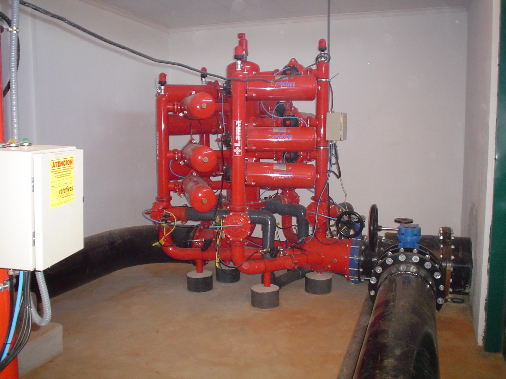 Estación de filtrao automático de anillas