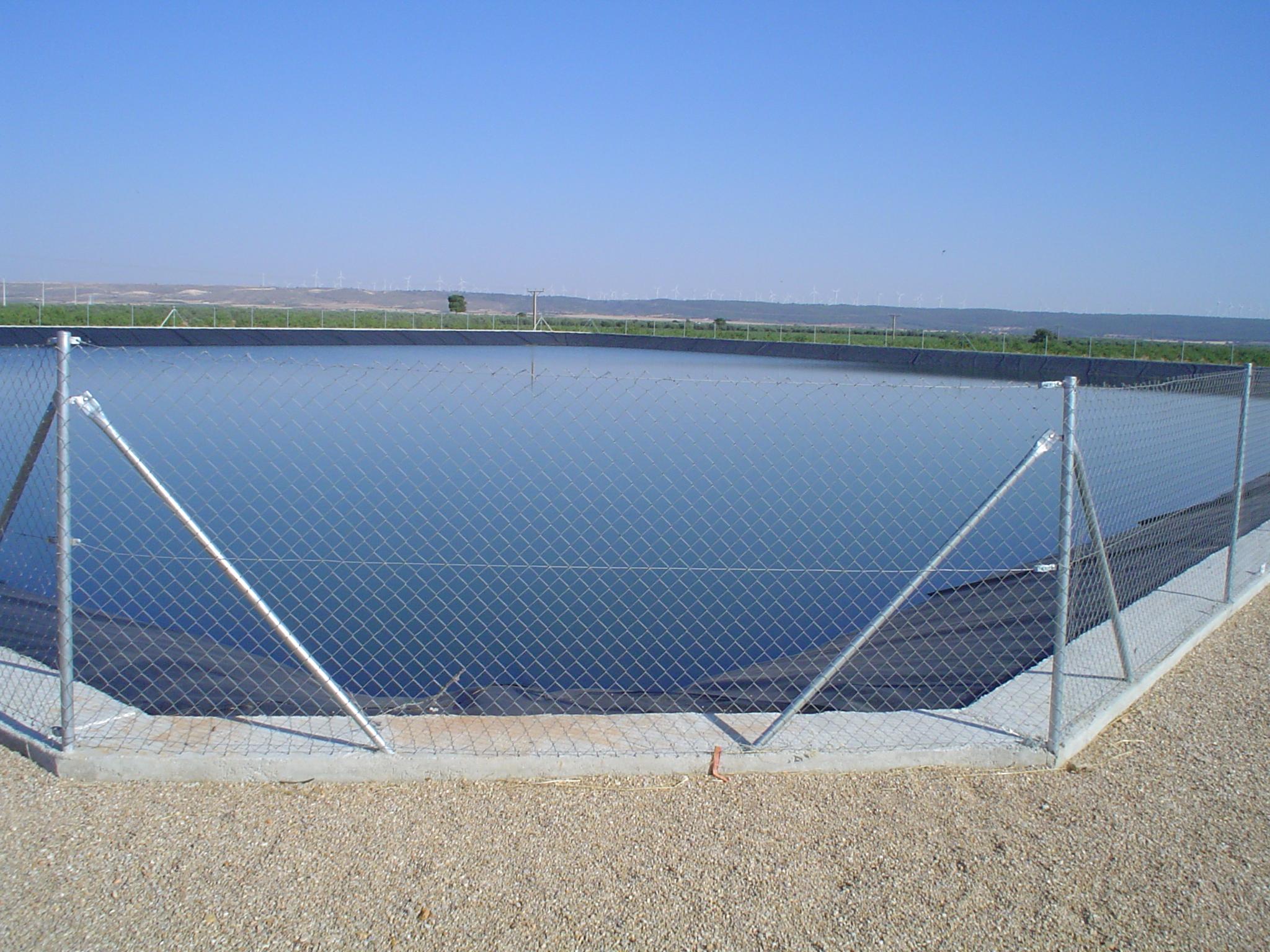 Reservorio para riego de olivar